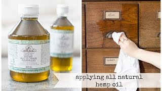 using all-natural hemp oil to revive wood and finish painted pieces | miss mustard seed