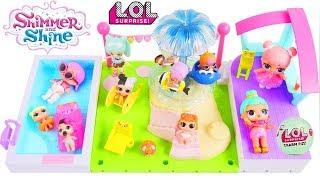 LOL Surprise Dolls + Lil Sisters at Shopkins Pool