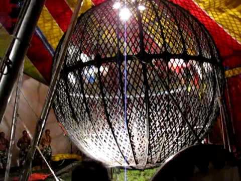 magic circus of samoa 2009 globe of death
