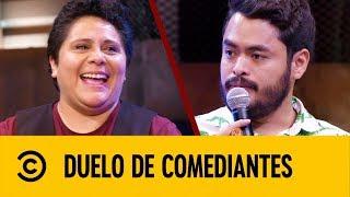 Cojo Feliz VS Adriana Chávez | Duelo De Comediantes | Comedy Central LA