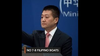 China omits 'besieging' by PH boats in new statement