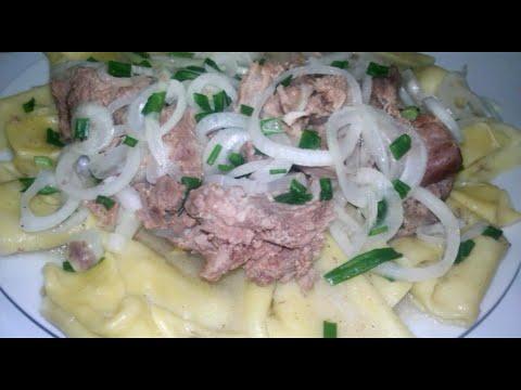 Бешпармак!!! Или Мясо по-казахски!!! (национальное блюдо казахской кухни!!!)
