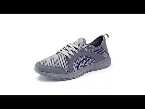 Must See Sneaker Review 2018! QANSI Men's Casual Sneakers Ultra Lightweight Breathable Mesh Sport..