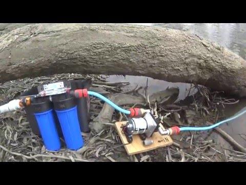 12 Volt water pump. Shurflo pump and Water Filter for filling RV Caravan tanks. or camping shower