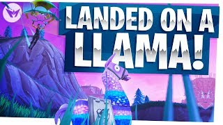 Landing on a Loot Llama to Win the Game! - Fortnite Battle Royale Gameplay