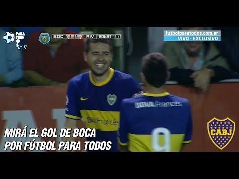 GOL de Riquelme. Boca 1-1 River