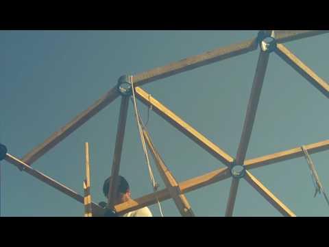 5 construcci n de una cupula geodesica o domo youtube - Como se construye una chimenea ...