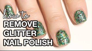 3 Glitter Nail Polish Removal Hacks || KELLI MARISSA