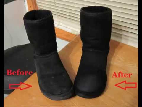 how do you clean black uggs