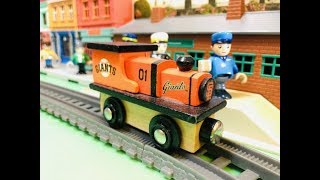 Kids Song - The Muffin Man - Masterpieces MLB Giants wooden toy train (05183)