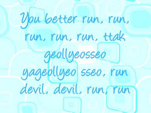Run Devil Run Lyrics - Snsd video