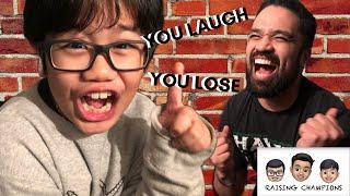 Dad challenges Kid in Bad Dad Jokes challenge