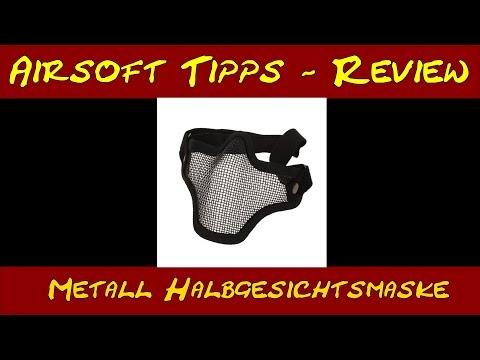 Review - Halbgesichtsmaske Metallgitter