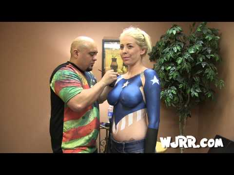 Red, White And Boobs! Body Painting With Brandi C video