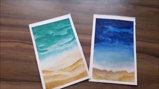 Easy Beach Ideas For Beginners Watercolor Painting Tutorial/ Lets Learn Together Ep 7