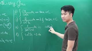 Nguyên hàm lượng giác - Môn Toán lớp 12 - Thầy Nguyễn Quốc Chí