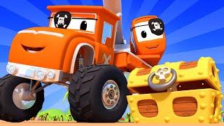 Monster Truck -  La chasse au trésor - Monster Town 🚗 Dessin animé pour enfants