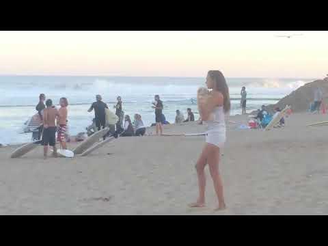 Laird Hamilton shoots pier on Huge wave -  Malibu Lagoon / Surfrider Beach -  8/26/14