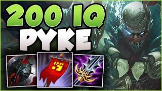 STOP PLAYING PYKE WRONG! 200 IQ PYKE BUILD IS TOO BUSTED! PYKE TOP GAMEPLAY! - League of Legends