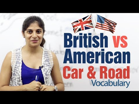 British English vs American English -- Car & Road Vocabulary -- English Lesson