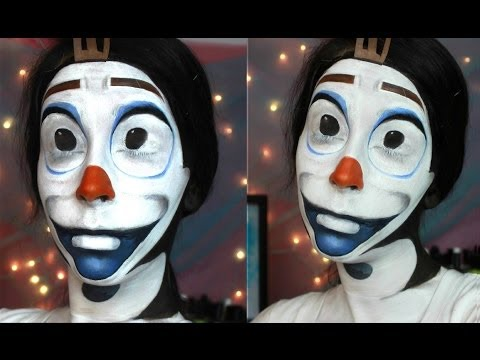 Disney Frozen Olaf the Snowman Face Paint Tutorial