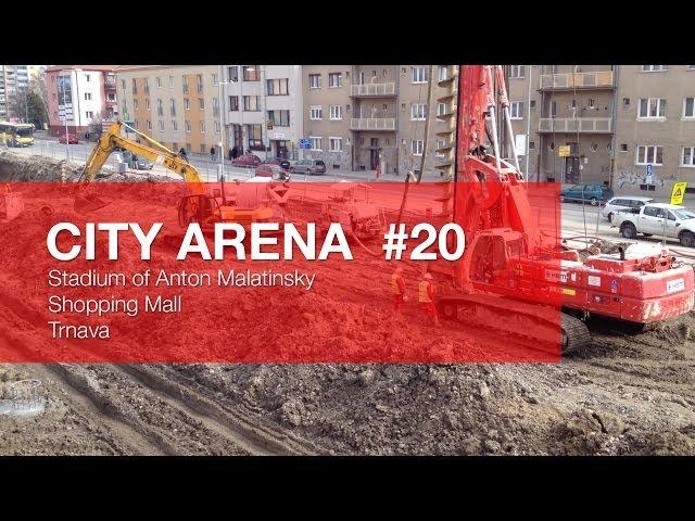 CITY ARENA - (20) Vŕtanie pod Južnou tribúnou - Pilótové základy - (Drilling under the South...)