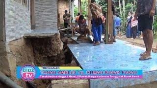 Tanah Ambles 1 meter, 5 Rumah Warga Kertosono Trenggalek Hancur - bioz.tv