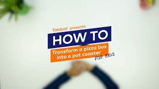 How to Make a Pot Coaster out of a Pizza Box -  For Kids