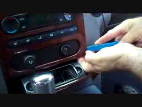 removing cd player and stuck cds from 08 ford expedition el how to save money and do it yourself. Black Bedroom Furniture Sets. Home Design Ideas