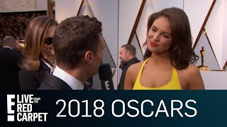 """Eiza Gonzalez on Steve Carell: """"He Wants Everyone Else to Shine""""   E! Live from the Red Carpet"""