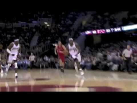 "LeBron James ""Hand Behind the Head"" Dunk vs. Raptors (12.9.08)"