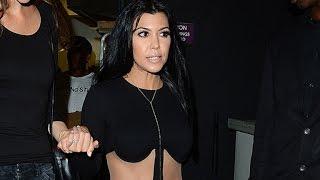 Kourtney Kardashian Stuns in Revealing Black Jumpsuit at Kylie Jenner's 18th Birthday Party