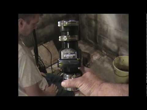 Atlantic Drain ~ HOWto  INSTALL sump pump CHECK VALVE proper