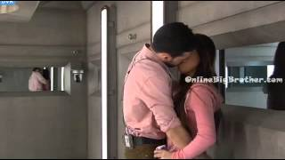 Big Brother Canada 3 Jordan & Cindy make out in the havenot room