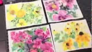 how to paint batik style watercolor