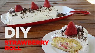 STRAWBERRY ROLL! - Very easy and delicious Italian dessert!