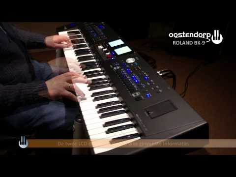 Roland BK-9 Keyboard demonstratie