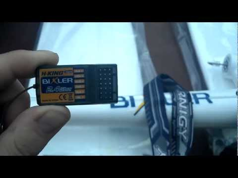 Bixler RC Plane Receiver Setup RTF and Motor start up