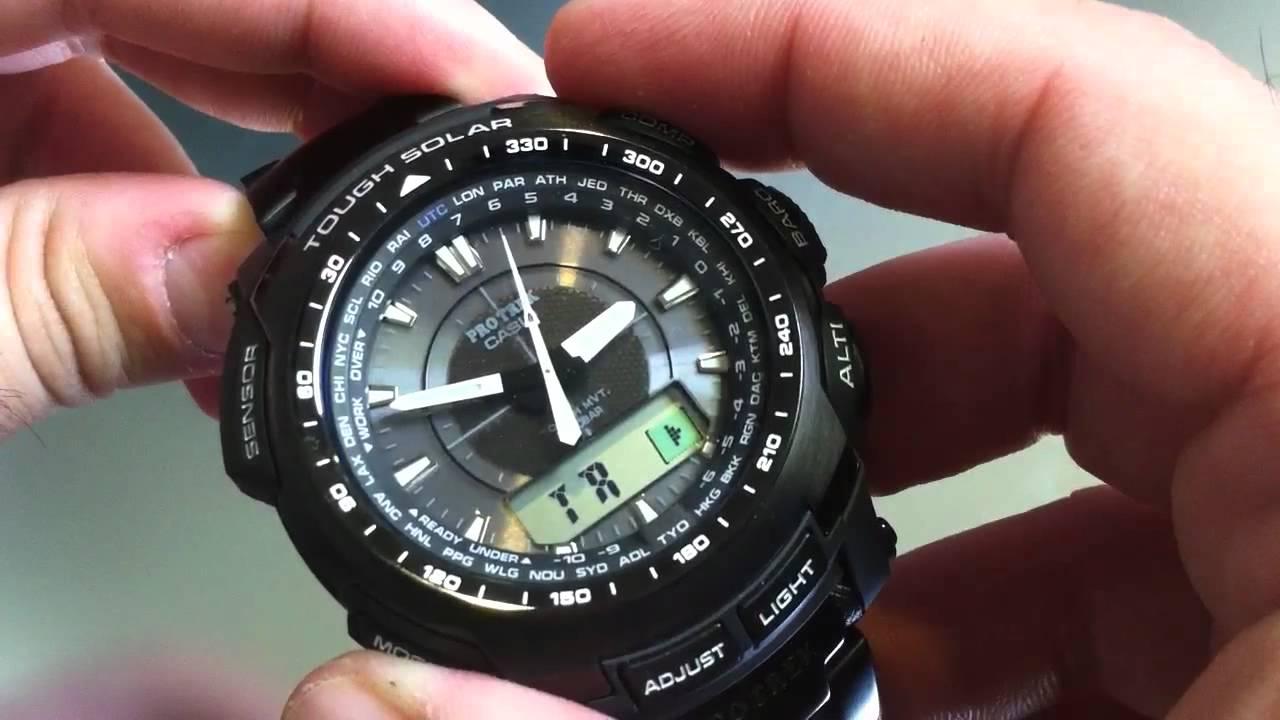 Germany Solar Power >> Titanium Casio Protrek Solar Atomic Watch PRW5100YT-1 ...