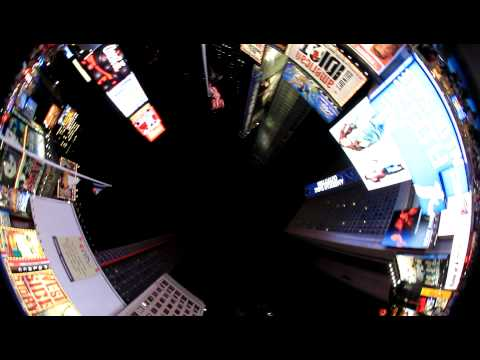 360 World View of Times Square Using a Fisheye with Canon 7D
