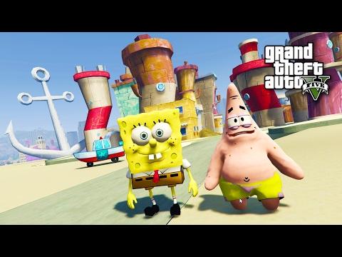 SPONGEBOB, PATRICK & BIKINI BOTTOM!! (GTA 5 Mods)