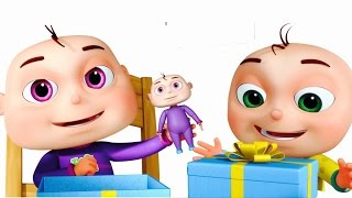 Five Little Babies Opening Gift Boxes | Cartoon Animation For Children | Nursery Rhymes n Kids Songs