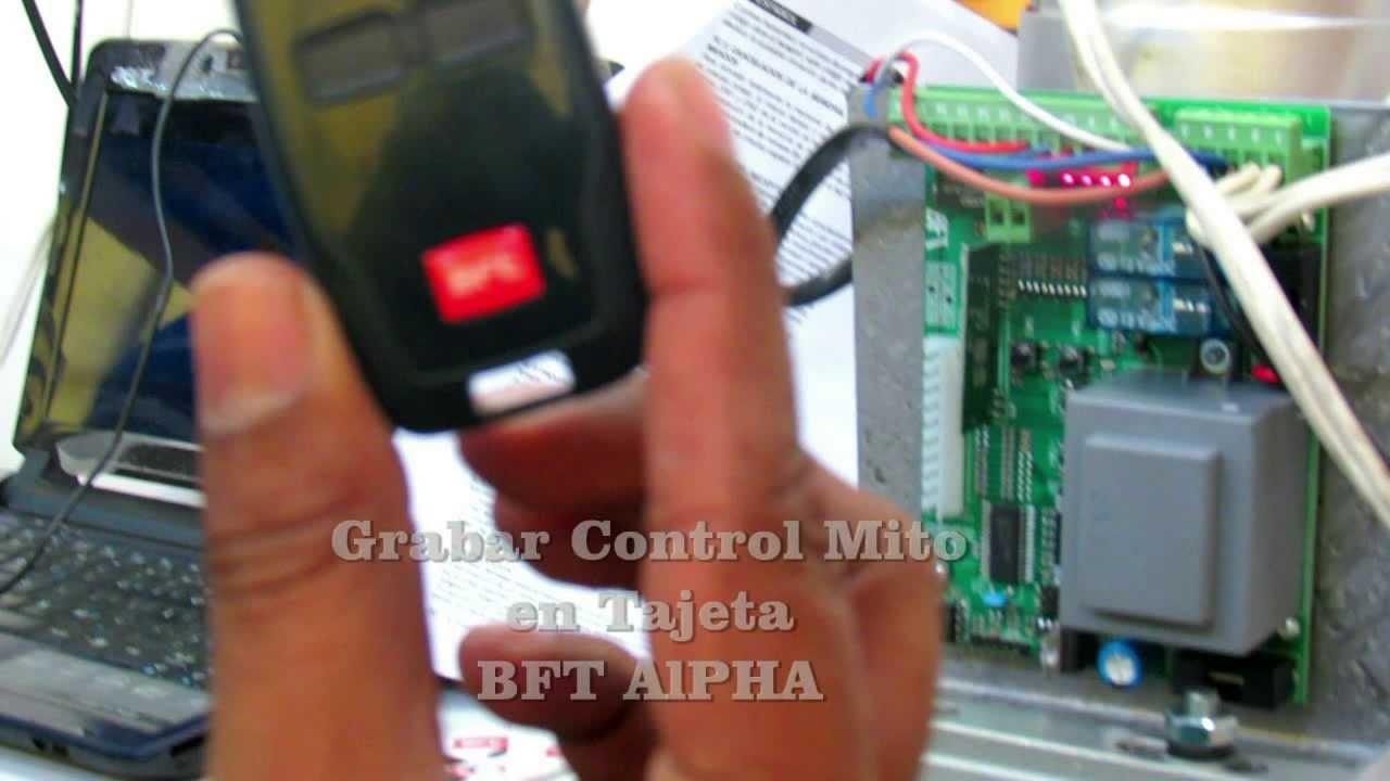 Configurar control mito tarjeta bft alpha seguriproca for Bft alpha manuale
