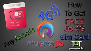 How to get free Reliance Jio 4G sim card on any 3G android device 2016 In Hindi