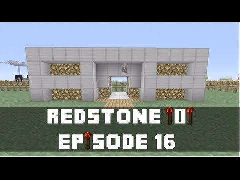 Minecraft Xbox 360 -  How to make a Compact . 2x2 Space Door (Redstone Tutorial) (Xbox)