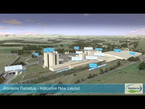 3D Animation Milk Plant -  Fonterra Pahiatua