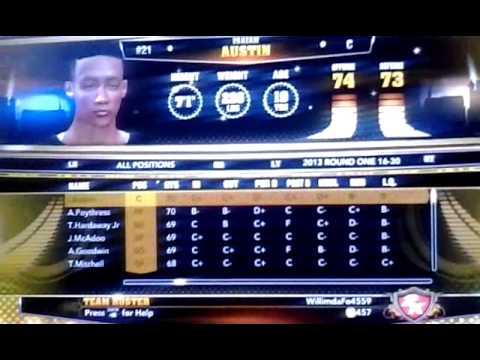 NBA 2k13 Draft Class all 60 rookies, Team USA Select, and ... Jabari Parker Nba 2k13