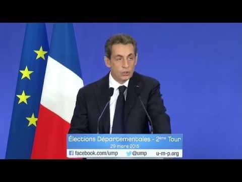 Discours de Nicolas Sarkozy - 2ème tour des élections départementales