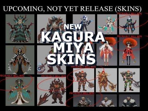Kagura and Miya NEW SKINS ! - Mobile legends - Upcoming Skins
