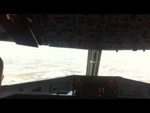 Landing ILS23 @Algiers Airport ATR72-500 Air Algérie